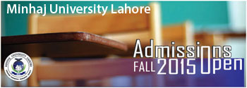 Admission Open FALL 2015
