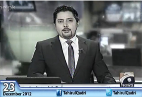 Geo News - Report and Exclusive Interview of Dr Tahir-ul-Qadri - 09:00 AM