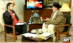 ARY News: Dr Tahir-ul-Qadri with Waseem Badami in 11th Hour
