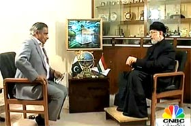CNBC: Dr Tahir-ul-Qadri's Exclusive Interview with Mujahid Barelvi