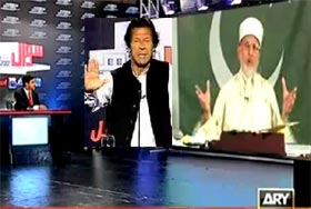 ARY News: Sawal Yeh Hai (Election Special With Dr Tahir-ul-Qadri & Imran Khan)