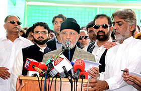 Model Town carnage was planned in Islamabad: Dr Tahir-ul-Qadri addresses press conference on return from London